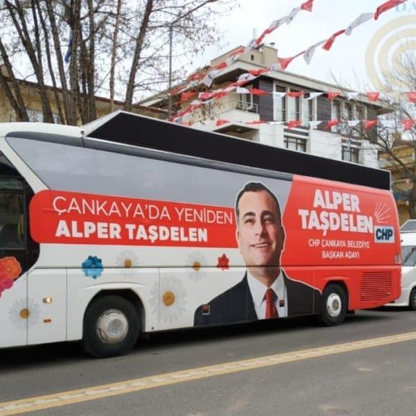 Alper Taşdelen CHP Seçim Aracı